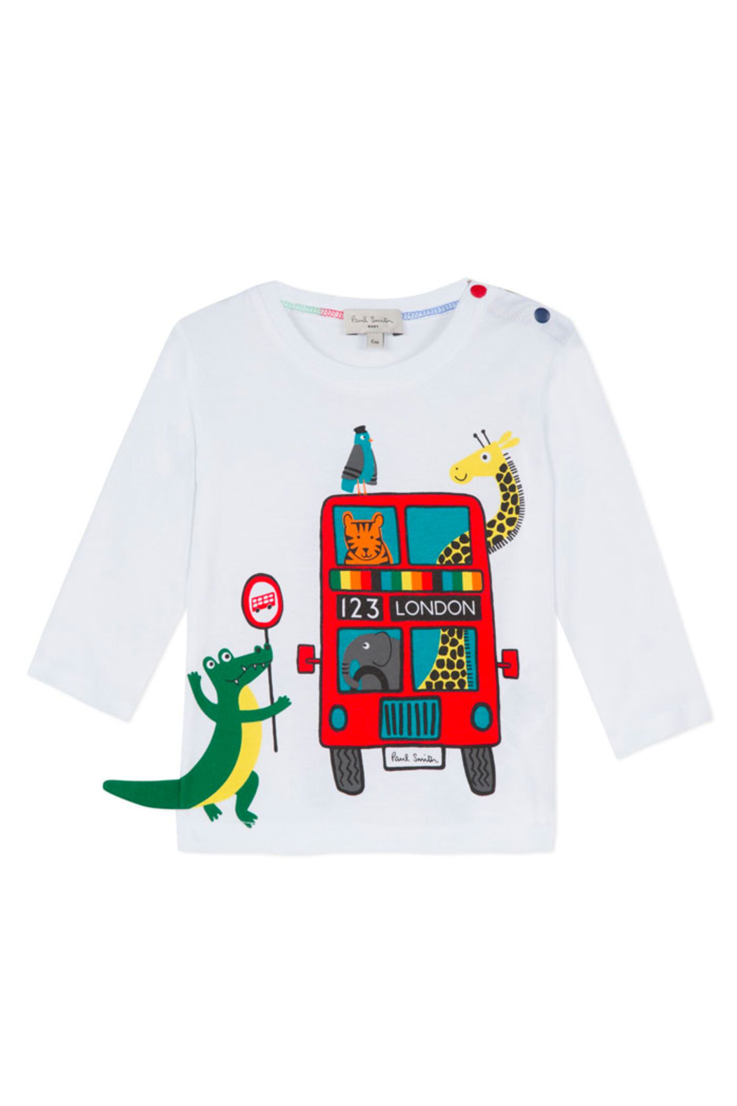 Paul Smith Junior London Bus Long Sleeve T Shirt - Main Image