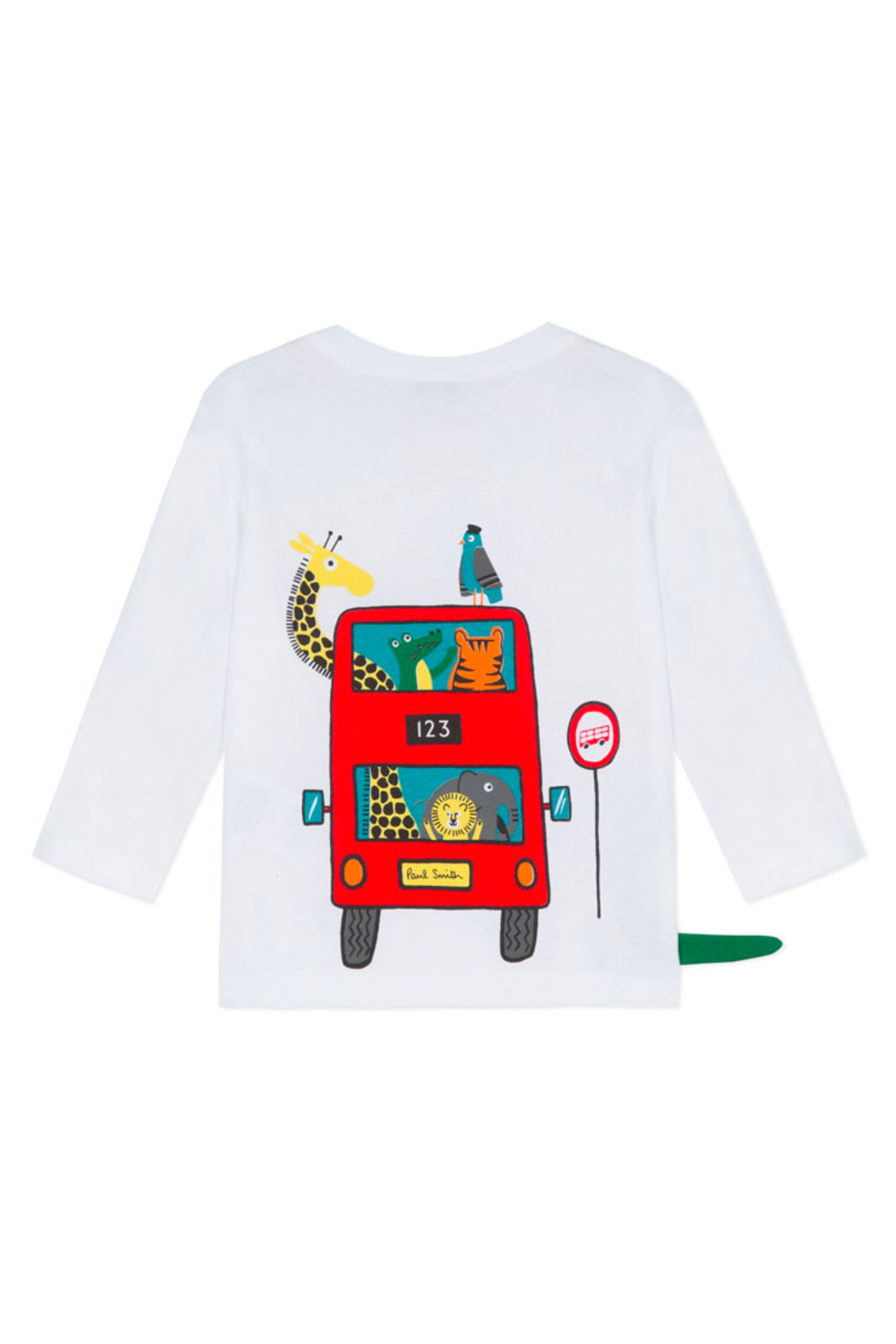 Paul Smith Junior London Bus Long Sleeve T Shirt - Front Full Image