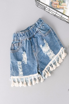 Shoptiques Product: Ripped Tassel Short