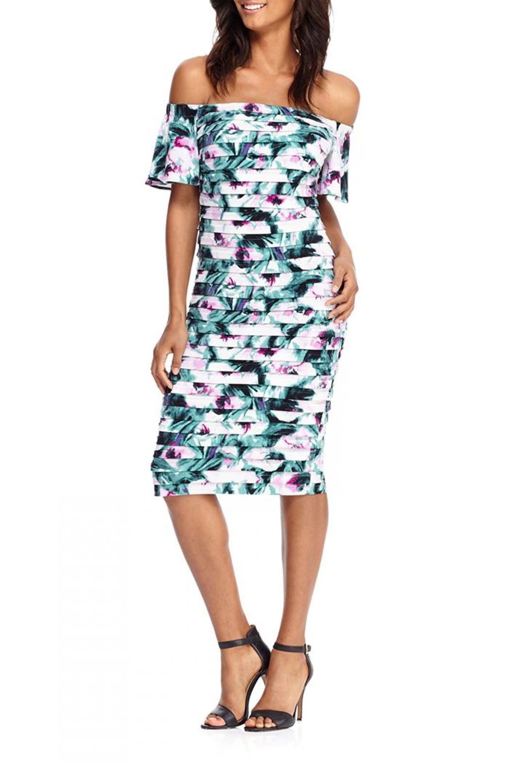 London Times Tiered Off Shoulder Dress - Main Image