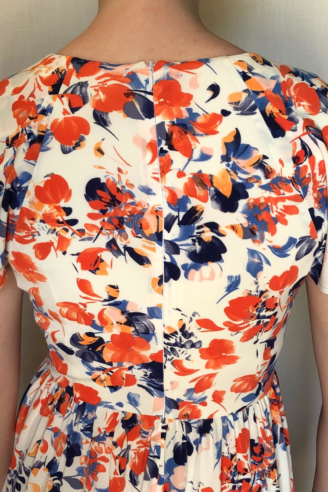 London Times Floral Printed Dress - Side Cropped Image