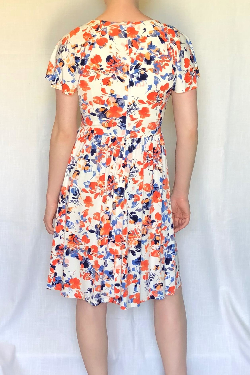 London Times Floral Printed Dress - Front Full Image
