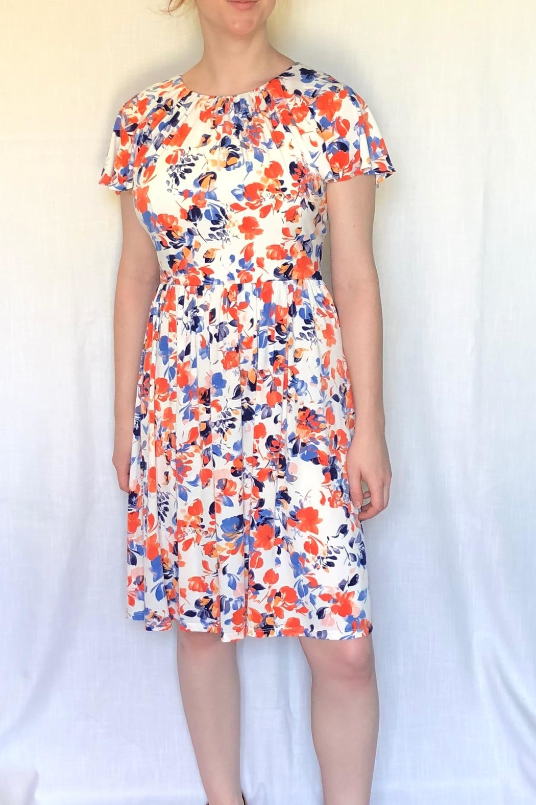 London Times Floral Printed Dress - Main Image
