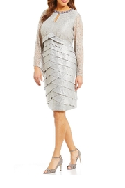 London Times Lace Sheath Dress - Product Mini Image