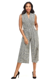 London Times Plaid Cropped Jumpsuit - Front cropped