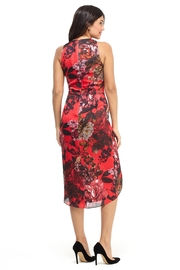 London Times Red Print Dress - Front full body