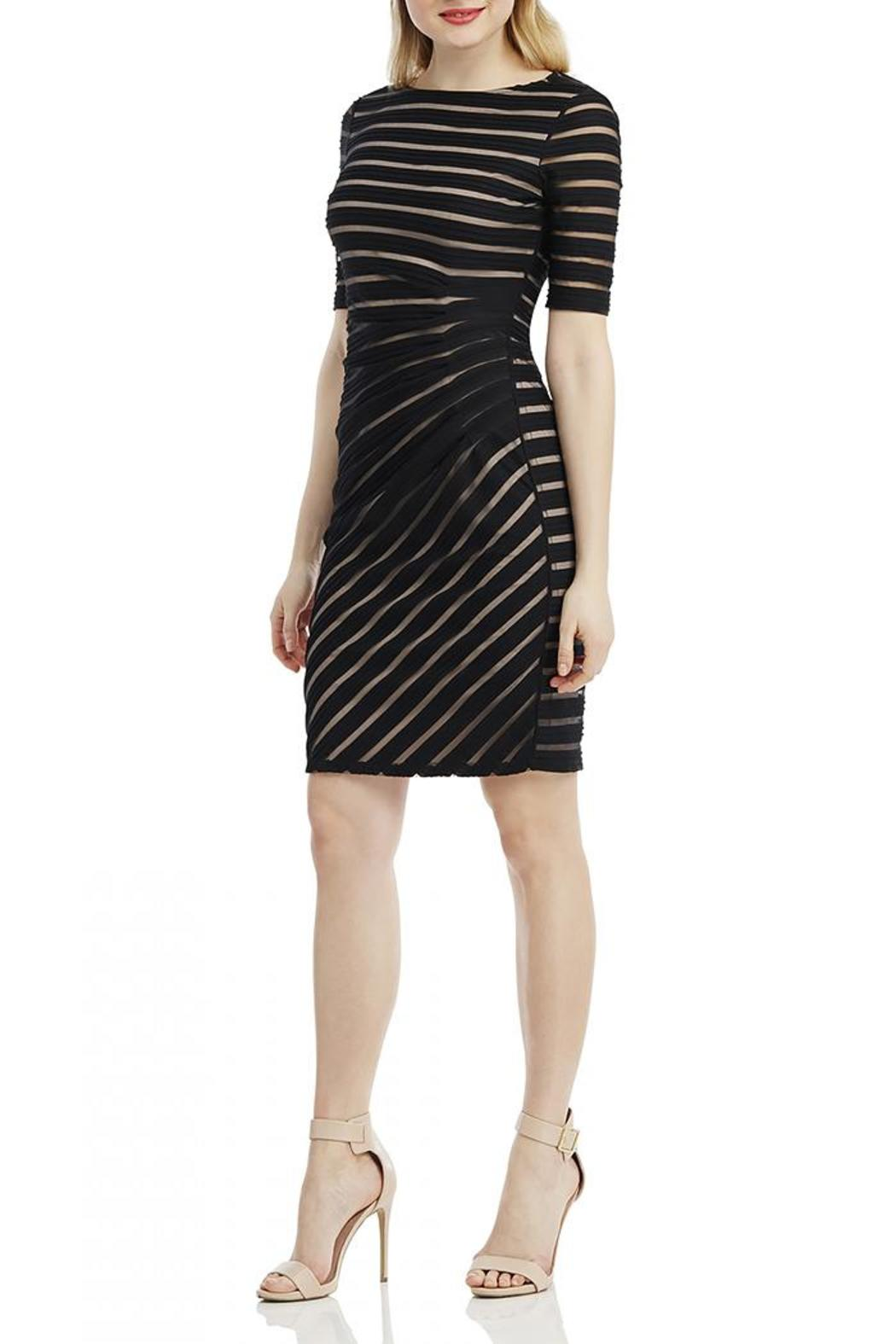 London Times Ruched Sheath Dress - Front Full Image