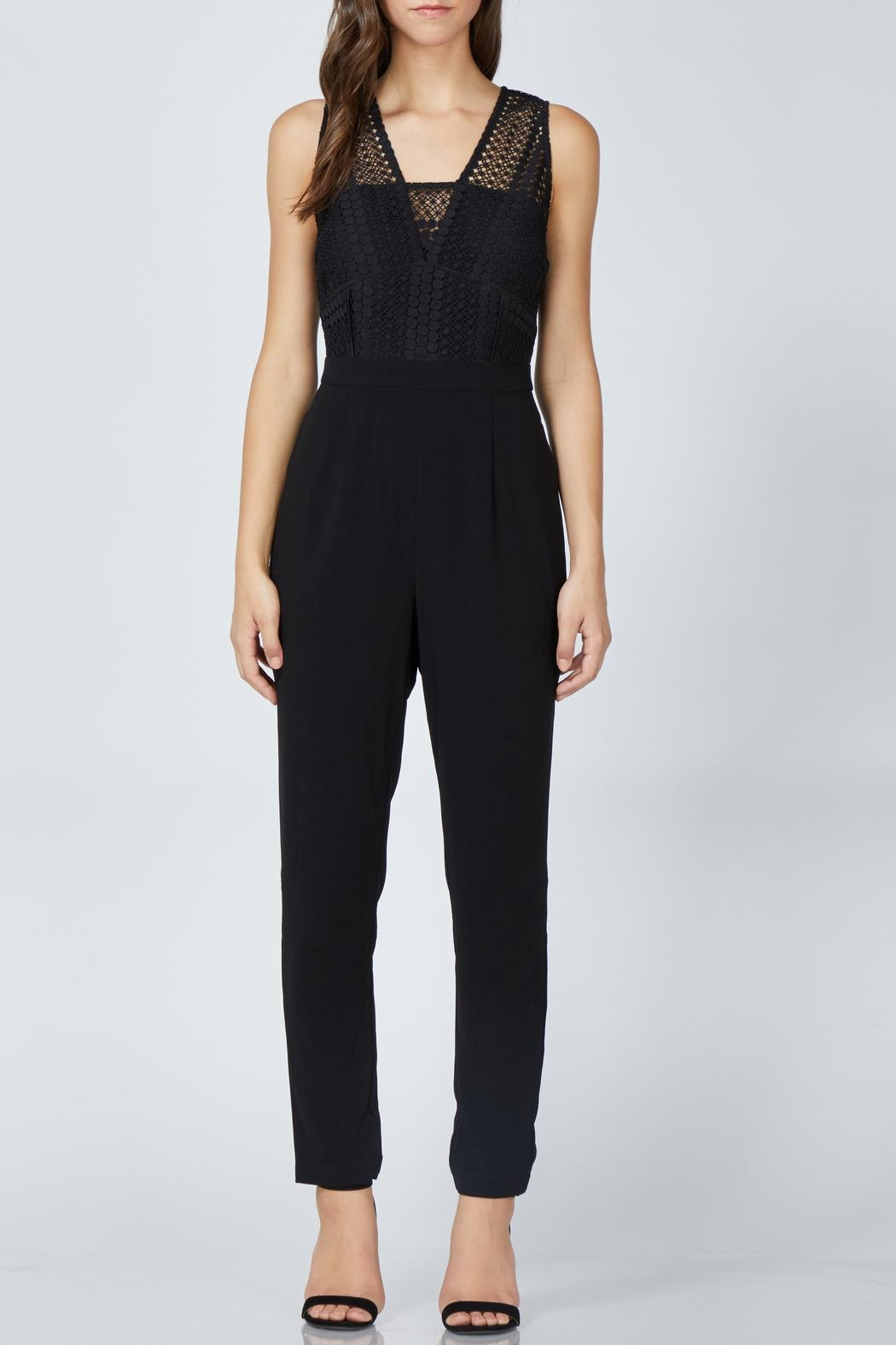 Adelyn Rae Londyn Lace Jumpsuit - Side Cropped Image