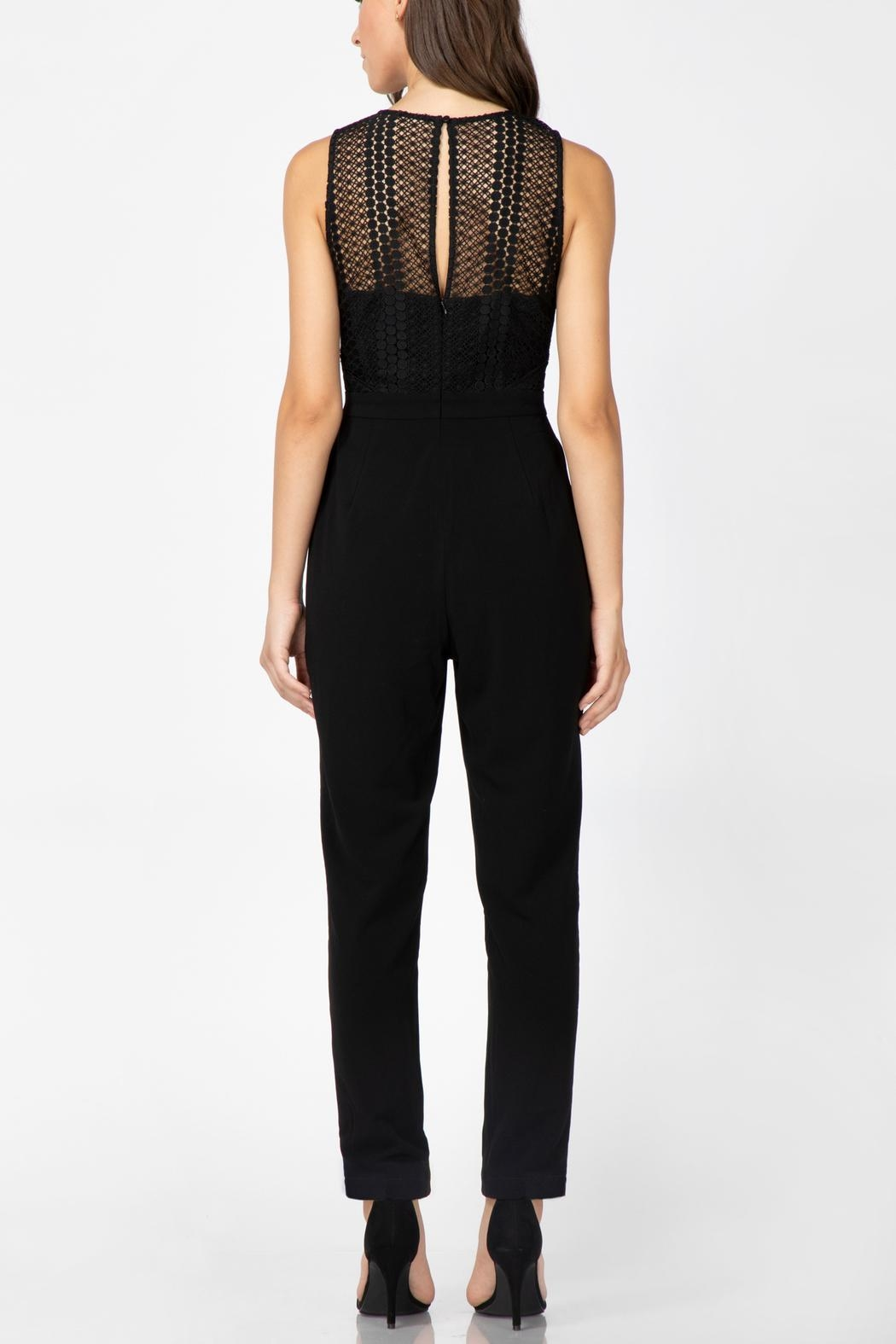 Adelyn Rae Londyn Lace Jumpsuit - Front Full Image