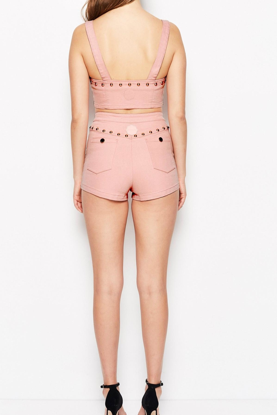 Alice McCall  Lonely Hearts Shorts - Side Cropped Image