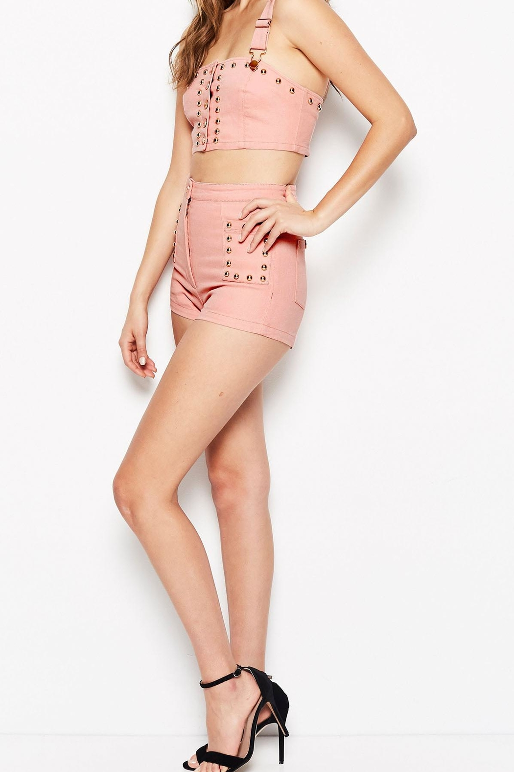 Alice McCall  Lonely Hearts Shorts - Front Full Image