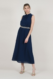 Molly Bracken Long Belted Straight Dress - Product Mini Image
