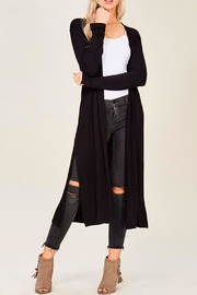 Wild Lilies Jewelry  Long Black Cardigan - Product Mini Image