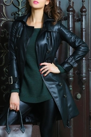 Adore Clothes & More Long Black Jacket - Side cropped