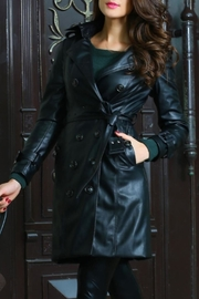 Adore Clothes & More Long Black Jacket - Front full body