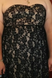 Torrid Long Black Lace Dress - Product Mini Image