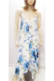 India Boutique LONG BLUE FLORAL PRINT DRESS - Product Mini Image