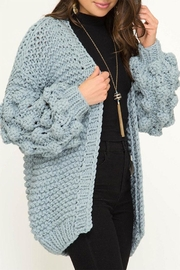 She + Sky Long Bubble-Sleeve Sweater-Cardigan - Product Mini Image