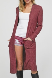 Wild Lilies Jewelry  Long Burgundy Cardigan - Product Mini Image