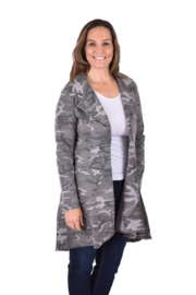 True Blue  Long Camo Duster - Product Mini Image