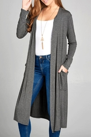 Active Basic Long Cardigan - Product Mini Image