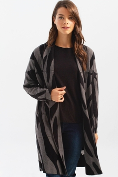Charlie B. Long Cardigan with Patch Pockets - Product List Image