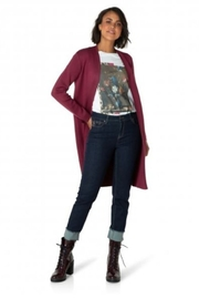 Yest Long Cardigan with Pockets - Product Mini Image
