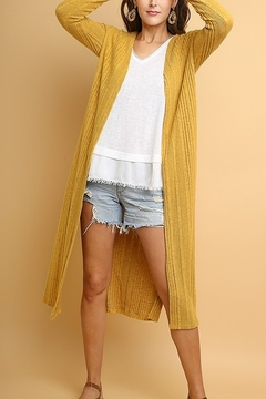 Shoptiques Product: Long Cardigan with Side Slits