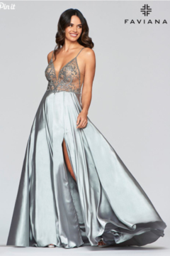 Faviana Long Charmeuse Gown - Alternate List Image