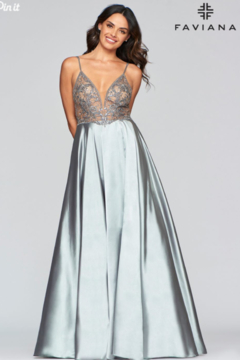 Faviana Long Charmeuse Gown - Product List Image