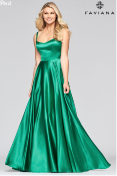 Faviana Long Charmeusse Gown - Product List Image