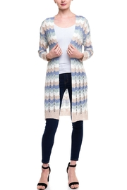 Kayla's Armoire Long Crochet Cardigan - Front cropped