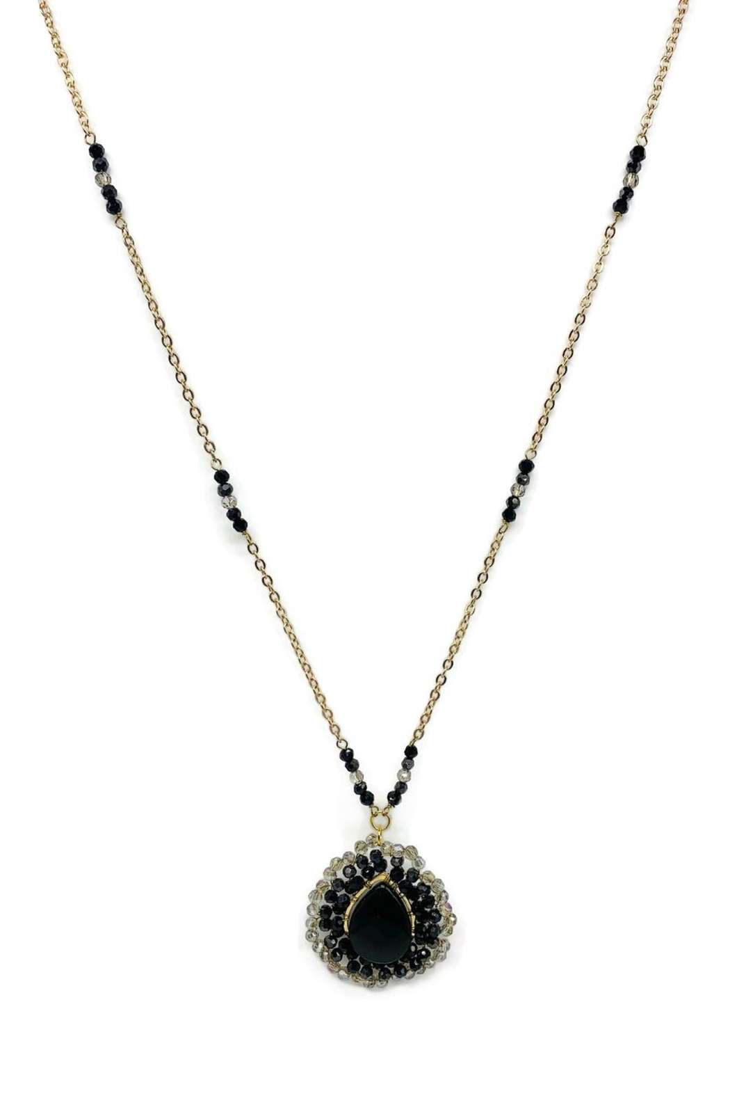 Ananda Chicago  Long Crystals Necklace - Main Image