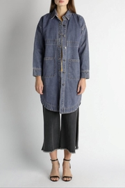 Current Air Long Denim Jacket - Front cropped