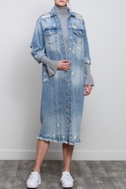 Mustard Seed Long Denim Jacket - Product Mini Image