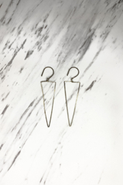 By Philippe Long Drop Earrings Gold Filled - Product Mini Image