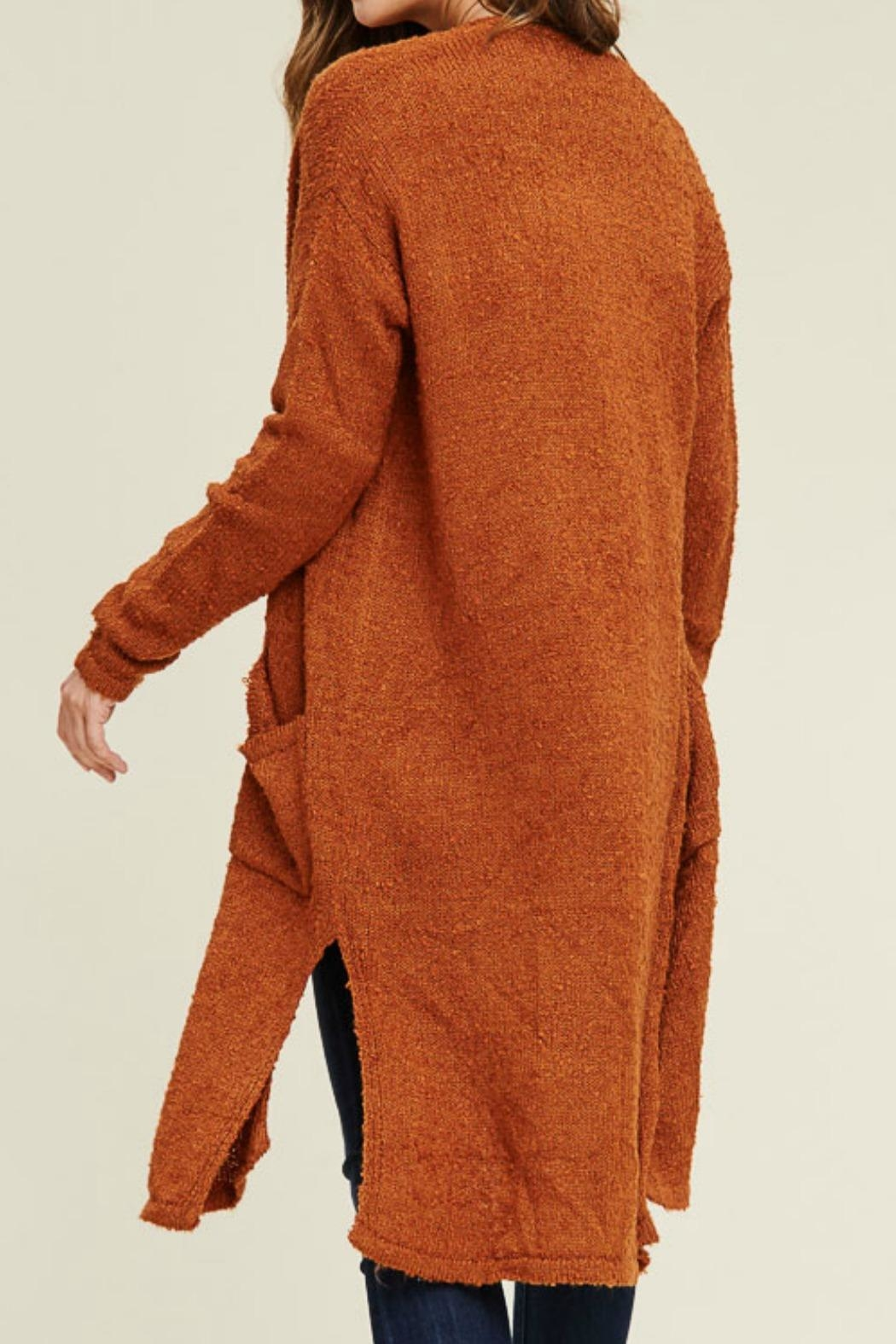 Staccato Long Duster Cardigan - Side Cropped Image