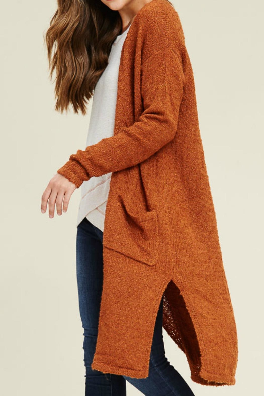 Staccato Long Duster Cardigan - Front Full Image