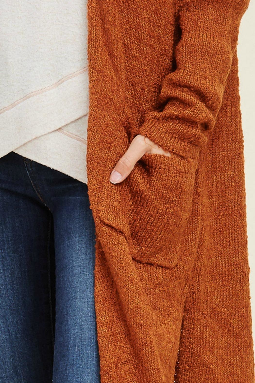 Staccato Long Duster Cardigan - Back Cropped Image