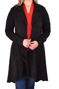 Ethyl long faux suede lightweight jacket - Product List Image