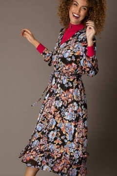 Yest Long Floral and Stripe Dress - Product List Image