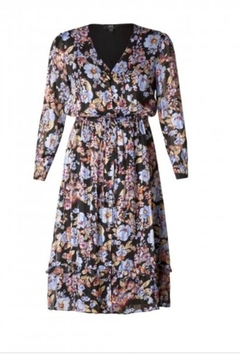 Yest Long Floral and Stripe Dress - Alternate List Image