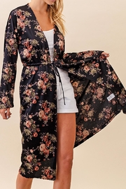 Twelve Months Long Floral Cardigan - Front cropped
