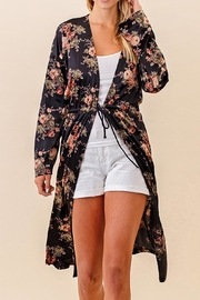 Twelve Months Long Floral Cardigan - Front full body