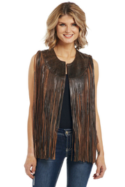 Cripple Creek Long Fringed Vest - Product Mini Image