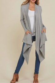annabelle Long Front Cardigan - Product Mini Image