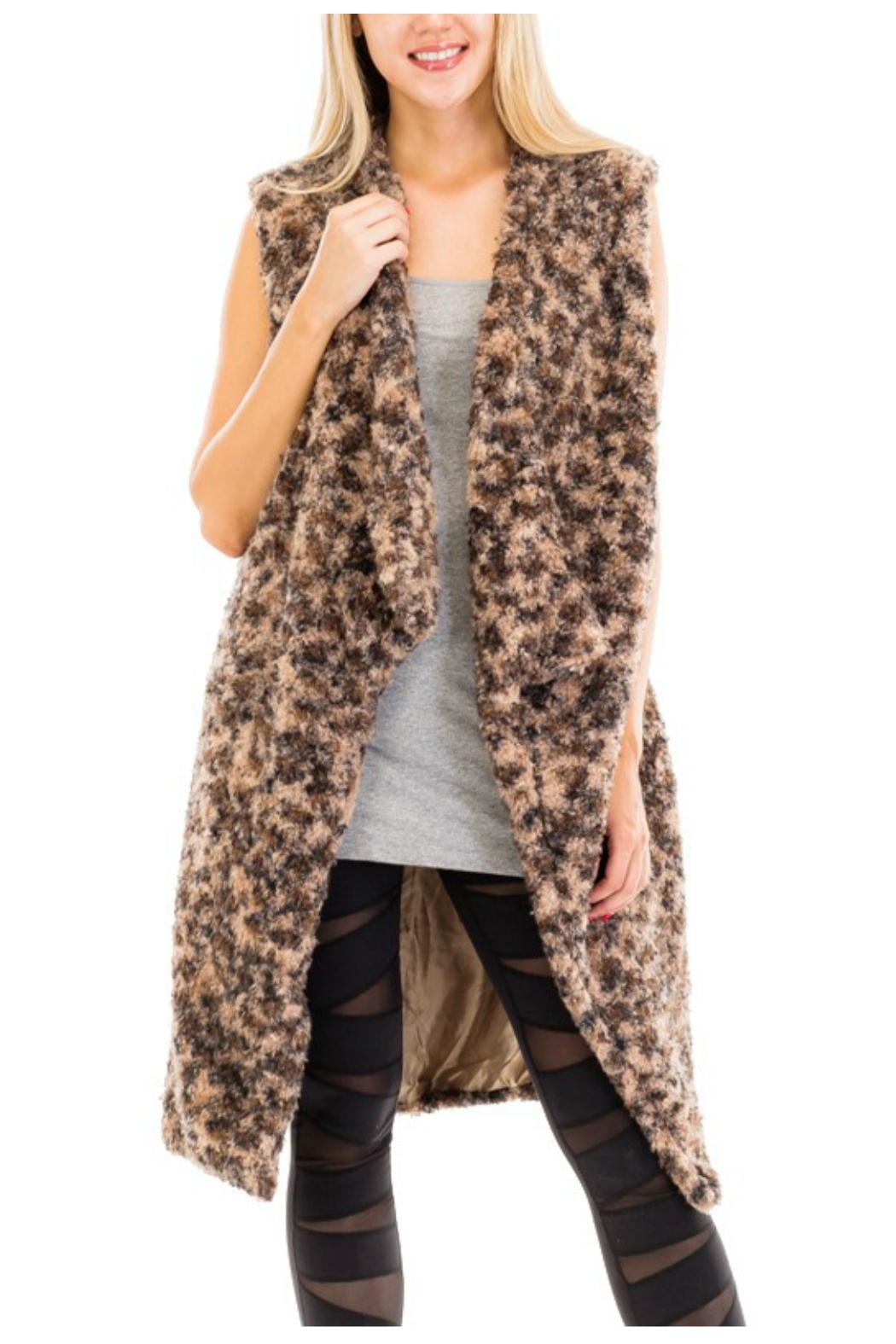 Towne Long Fur Vest - Main Image
