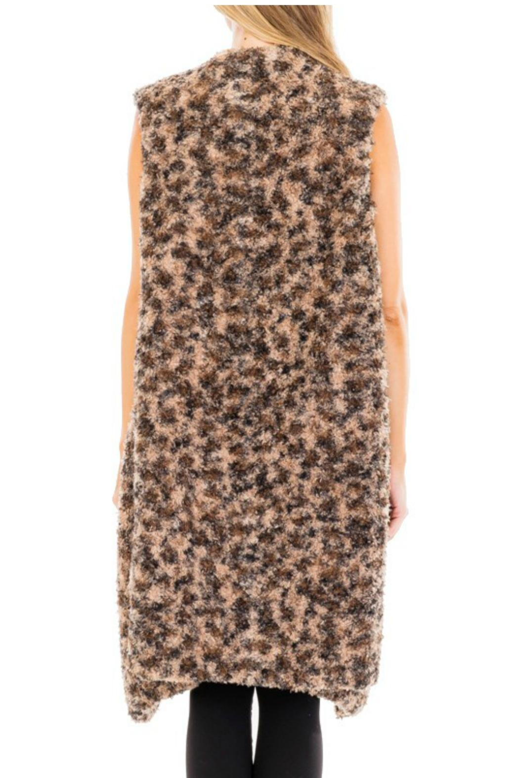 Towne Long Fur Vest - Front Full Image