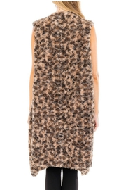 Towne Long Fur Vest - Front full body
