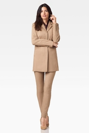 Ecru Long Jacket, Camel - Product Mini Image